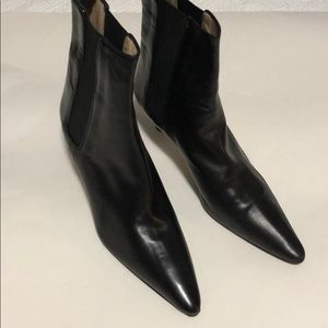 Manolo Blahnik dark brown boots